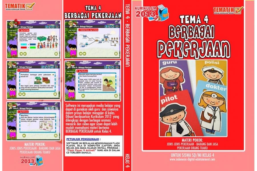CD Belajar Tematik SD kelas 4 Tema 4 BERBAGAI PEKERJAAN