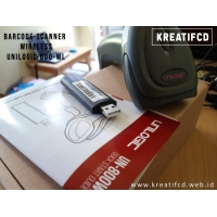 BARCODE SCANNER WIRELESS UNILOGIC 800 WL-LASER-USB-AUTOSCAN-MURAH